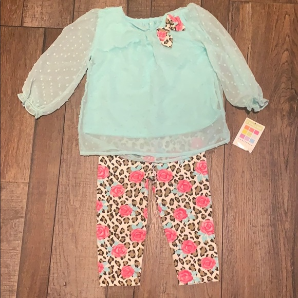 *NWT* Baby Girl Healthtex Matching Set